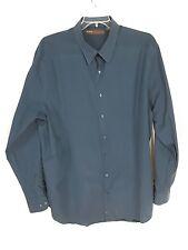 Perry Ellis Green/Black Stripped Men's size 2XL Button Down Casual Shirt