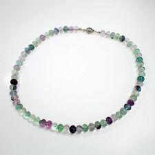 Fluorit Halskette mit Magnetverschluß Silber 925/-