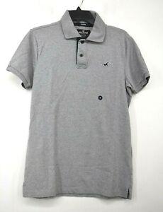 Hollister Mens Gray Short Sleeve Comfort-Fit Epic Flex Stretch Polo Shirt M