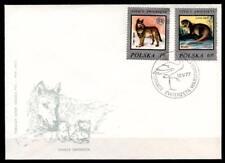 Wolf und Flussotter. FDC. Polen 1977