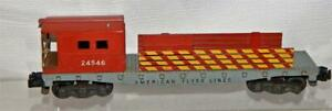 American Flyer Lines 24546 work caboose Yellow striped fences KNUCKLE coupler S