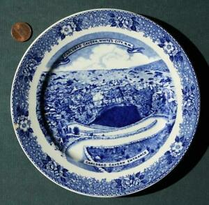 1940-50s Carlsbad Caverns New Mexico Staffordshire fine china plate-Route 66!