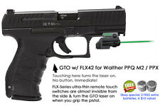 ArmaLaser GTO for Walther PPQ M2 PPX GREEN Laser Sight w/FLX42 Grip Touch On/Off