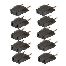 10PCS US USA to EU Euro Europe AC Power Plug Converter Travel Adapter Charger jd