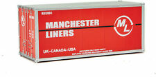 Walthers HO Scale 20' Smooth-Side Container Manchester Liners (Red/White)