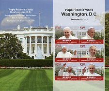 Bequia Grenadines St Vincent 2015 MNH Pope Francis Visits Washington DC 6v M/S