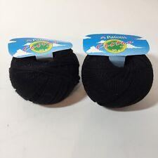 Cotton DK Yarn Patons 1.75 oz Black