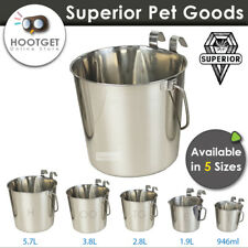 Superior Pet Goods 5.6L Flat Sided Bucket with Hooks