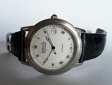 Men's AUGUSTE REYMOND Automatic Watch. 36mm Paper Pattern Dial. Date Swiss.