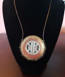 Silpada Copper Compass Sterling Silver Brass Copper Necklace N3341