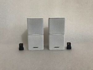 2 x Bose Lifestyle Acoustimass Surround Sound Premium Cube Speakers + Adapters