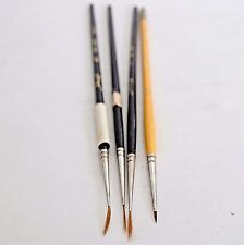 VTG Lot 4 Schraff France Artist Paint Brushes Mini Liner Spotter Brush China