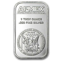 One Ounce .999 Fine Silver ApMex Bar 1 oz