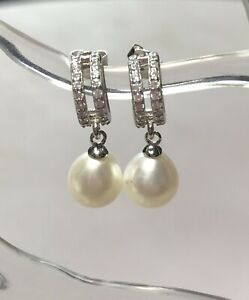 John Lewis Sterling Silver And Fresh Water Pearl Earrings BNWT
