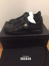 VERSUS VERSACE Lion Head Low Top Black Trainers Sneakers UK 6, 7, 8,10