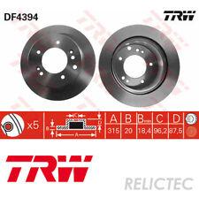 Rear Brake Disc for KIA:SORENTO I 1 58411-3E300