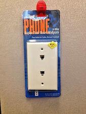 Leviton Phone Duplex Flush Mount Wallplate 6 Wire