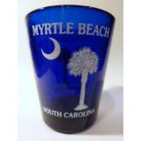 MYRTLE BEACH SOUTH CAROLINA PALM & MOON SHOT GLASS