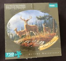 Autumn Whitetails 750 pc oval puzzle Buffalo Games Hautman Brothers Collect NEW