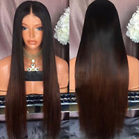 Ombre Brazilian Virgin Human Hair Glueless Lace Front Wig Straight Full Lace Wig