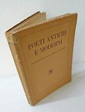 Anceschi,POETI ANTICHI E MODERNI Tradotti dai lirici nuovi,1945 Balcone[poesia