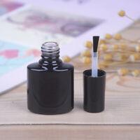 10ml Empty Nail Polish Bottle Black Glass With 'Agitator Mixing Ball Nail poliHK