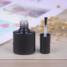 10ml Empty Nail Polish Bottles Black GlassWith Agitator Mixing Balls Nail poliOQ
