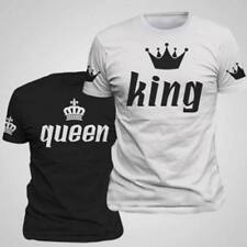 e6c8cfc6 Couple T-Shirt Crown King And Queen Love Matching Summer Fashion Unisex Tee  Tops