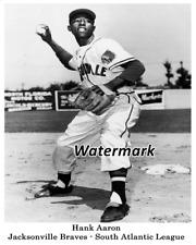 1953 AAA Jacksonville Braves Hank Aaron Black & White 8 X 10 Photo Picture