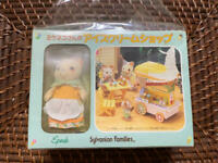 Sylvanian Families Mikeneko's Ice Cream Shop Vintage Calico Critters Epoch w/Box