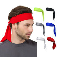 Men Women Head Tie Headband Outdoor Sports Headband Sweat Band Hair Sweatband