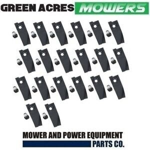 """20 HARDENED BLADES AND BOLTS  19"""" MASPORT / MORRISON LAWN MOWERS 783310"""
