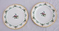 Lot 2 Wedgwood Charleston Bread Plate Bone China England Crazed