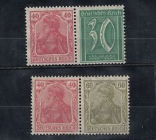 Germany 1922 Reich 40/30 Pairs MNH J6520