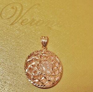 VERONESE *STUNNING* ROUND PENDANT 18CT ROSE GOLD BONDED OVER STERLING SILVER QVC