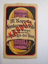 M. Kappus Konkurrenz-Seife / Reklamemarke