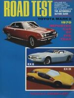 1970 Toyota Mark II Corona Car Road Test Brochure Sales Folder - EX Concept