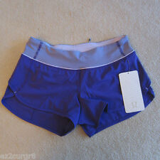 Lululemon Speed Short Bruised Berry Wee Stripe Berry 6 8