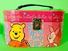 Disney Winnie The Pooh Pigglet Butterflies Pink Jewelry Makeup Storage Case
