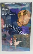 Rare Vtg Collector Disney Heroes & Villains Year 2000 Calendar - Never Opened