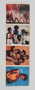Michael Jackson & Jackson Five Stickers Kellogg's Cereals 1980's four stickers