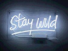 "New Stay Wild Pub Acrylic Neon Light Sign 14"" Real Glass Lamp Poster Artwork"