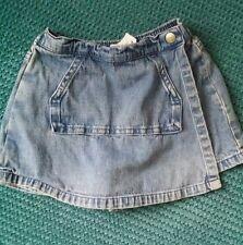 baby GAP girl skirt / shorts skort summer denim 12-18 months