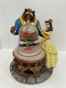 """Disney Beauty and the Beast Musical Water Snow Globe 1991 13"""" New"""