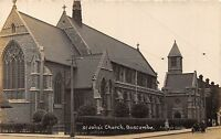 POSTCARD    DORSET   BOURNEMOUTH   BOSCOMBE  St  John's  Church   RP