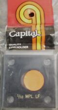 "CAPITAL PLASTICS: 2""X 2"" 1/10 MAPLE LEAF COIN DISPLAY W/FREE SHIPPING!!!"