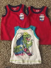 Lot Of Baby Boy Clothes 24 Month - 2T Mix Brands TANK TOPS - 3