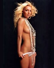 BRITNEY SPEARS SEMI-NUDE POP MUSIC STAR 8X10 GLOSSY PHOTO WOW-HOT!!!