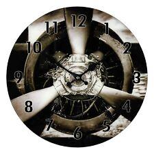 Hometime Glass Wall Clock Propeller Design 34cm