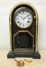 RESTORED Antique Welch U.S.A Mantel Clock #1688